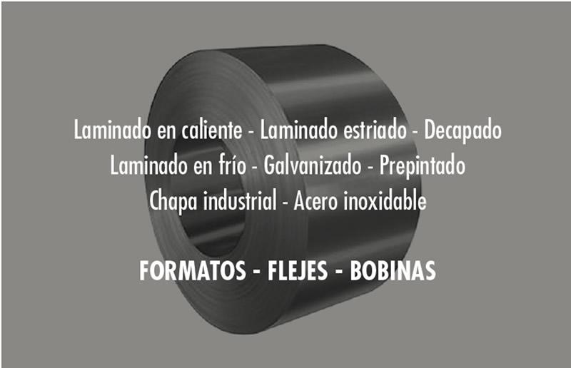 Flejes de chapa de formato laminado estriado, decapado, laminado en frío, galvanizado, prepintado y chapa industrial