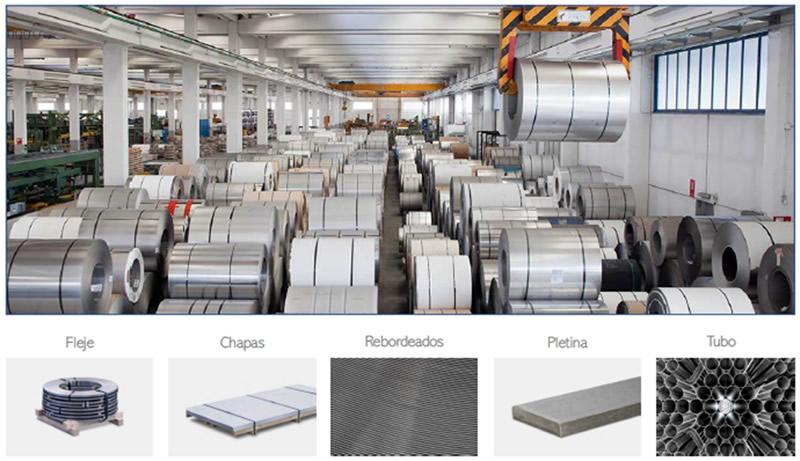 En Tecnysider ofrecemos chapas, flejes, bobinas, rebordeados, pletinas y tubos tanto de acero inoxidable como acero al carbono para la industria del metal.